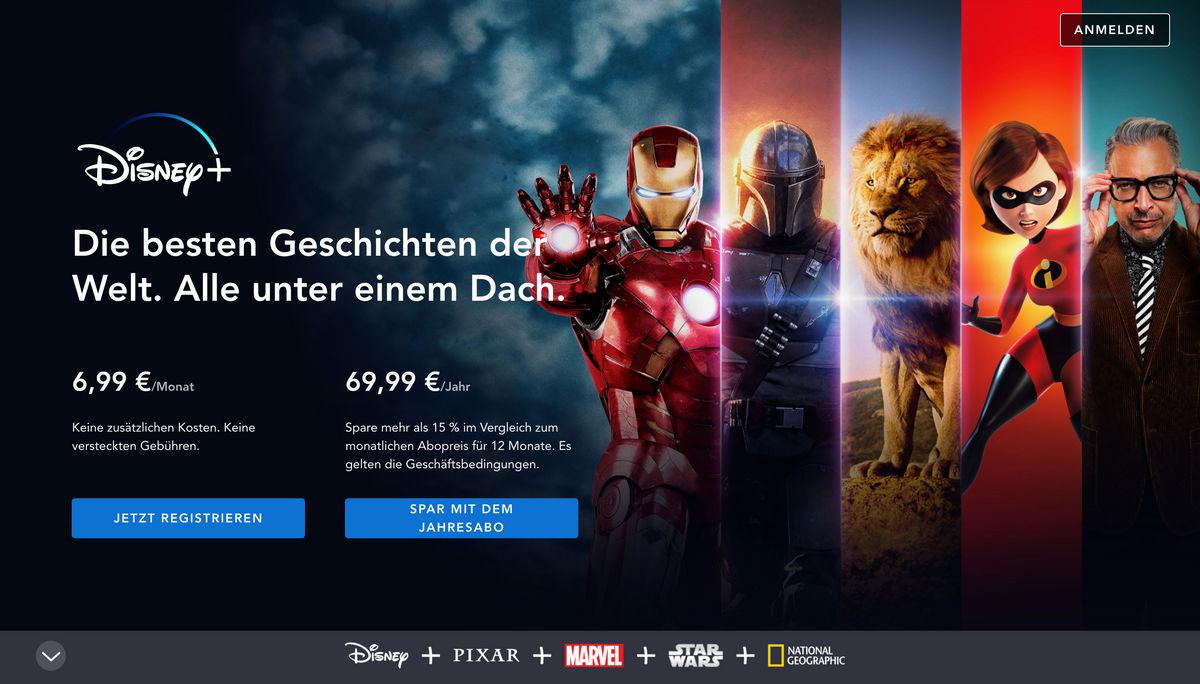 Disney+: Kosten, Inhalte und weitere Infos zum neuen Streaming-Dienst