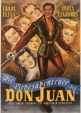 Poster: Die Liebesabenteuer des Don Juan