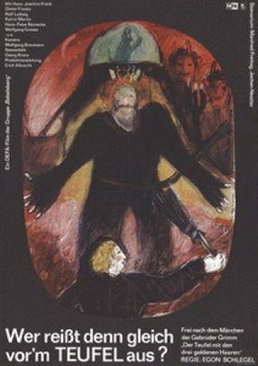 Poster: Wer reißt denn gleich vor'm Teufel aus