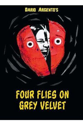 Poster: Vier Fliegen auf grauem Samt