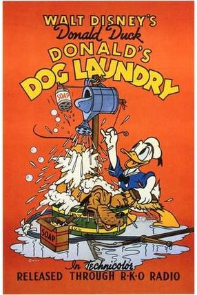 Poster: Donalds Hunde-Waschmaschine