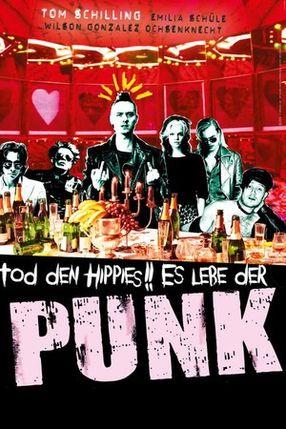 Poster: Tod den Hippies!! Es lebe der Punk!